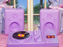 Barbie turntable record player speaker fits Fisher Price loving family d... - $5.99