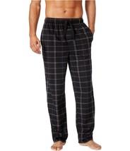 $43 Perry Ellis Mens Open-Grid Fleece Pajama Lounge Pants, Black, Size M - $19.79