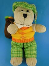 Starbucks Bearista Bear GOLFER plush Teddy Bear 50th Ed. 2006 golf Mint ... - $12.61