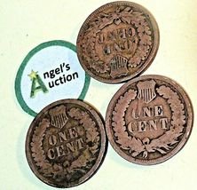 Indian Head Penny 1890, 1891, and 1892 AA20-CNP2125  image 5