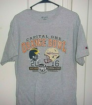 Champion Mens Large Capital One Orange Bowl 2016 Short Sleeve Graphic T ... - $17.96