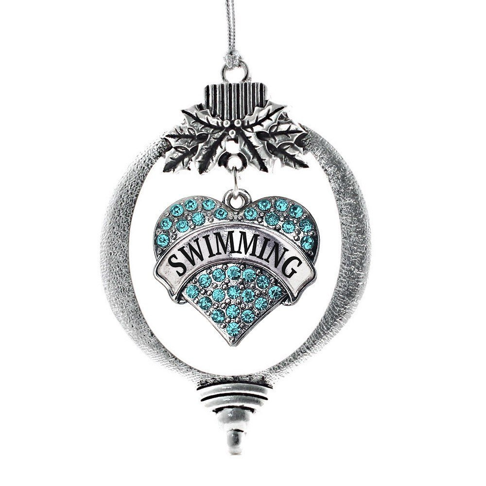 Primary image for Inspired Silver Swimming Heart Holiday Christmas Tree Ornament With Crystal Rhin