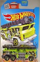 2015 Hot Wheels #51/250 HW City-Rescue 5 ALARM Fire Engine Green w/Green 5 Spoke - $13.00