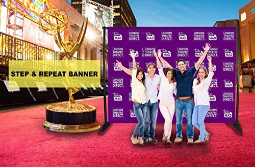 Custom Vinyl Step and Repeat Banners - 8ft X 8ft