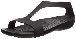 Crocs Women's Serena Flat Sandal (5|Black/Black) - $49.91