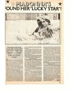 Madonna teen magazine pinup clipping found her lucky star Papa don't pre... - $1.50