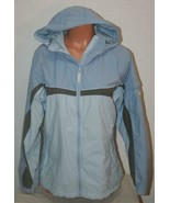 "COLUMBIA Blue Coat Jacket Small Chest: 42"" Hooded Zip Front Hoodie Womens - $19.26"
