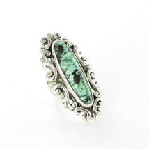 King Baby Studio Baroque Lace Ring New Lander Turquoise Sterling K20-589... - $863.29