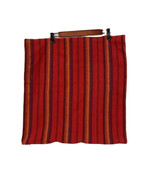 """Crate & Barrel Red Textured Striped Pillow Cover 100% Cotton 22"""" X 22"""" A... - $18.69"""