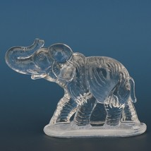 Vintage Smith Glass Miniature Crystal Elephant image 1