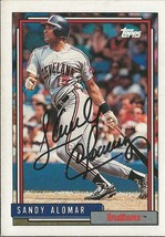 Sandy Alomar 1992 Topps Autograph #420 Indians - $14.89