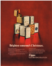 Vintage 1969 Magazine Ad Zippo Lighter Is Windproof / Compton's Encyclopedia - $5.93