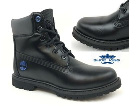 """Timberland Womans Limited Edition 6"""" Inch Premium Black Ice Leather Boots A1Q84 - $89.99"""