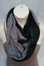 Collection Eighteen Infinity Loop Scarf Black Glen Plaid Cowl Scarf  - $19.71