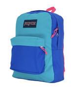 Jansport Origina Superbreak Blue Block Organizer School Backpack JS00T50... - $24.40