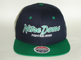 NCAA Notre Dame Fighting Irish 2 Tone Team Script Retro Snapback Cap - $18.80