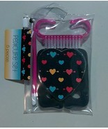 Black And Pink Glittery Heart Five Piece Pedicure Set  - $3.84