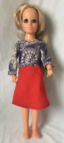 Primary image for Vintage Ideal Toy Kerry Doll from Crissy Family Growing Hair Blonde 1970 18""