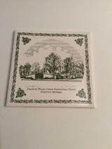 Vintage Trivet Ceramic Wall Tile Dearborn Woods Presbyterian Church Mich... - $10.45