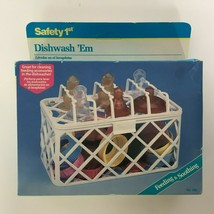 Safety 1st Dishwash 'Em Baby Bottle Cleaning Basket Dishwasher Storage R... - $13.50