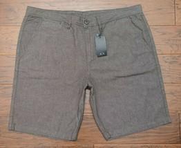 "Armani Exchange A X Men's 9.5"" Stretch Cotton Light Brown Casual Shorts 40 - $35.92"