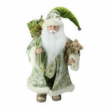 "Northlight 16"" St. Patrick's Irish Santa Christmas Figure with Teddy Bear - $38.11"