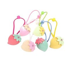 12 pieces Lovely Rubber Bands Hair Ropes Hair Ties for Kids, Leaves image 1