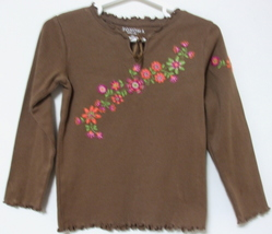 Toddler Girls Sonoma Brown Long Sleeve Cotton Top Size 4T - $4.95