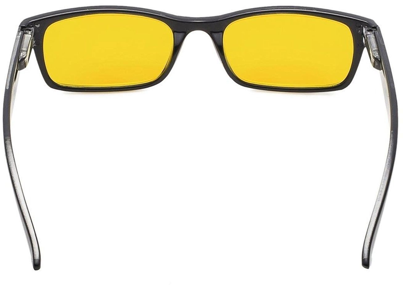 Reduce Eyestrain,Anti Blue Rays,UV Protection Computer Reading Tinted Lenses)