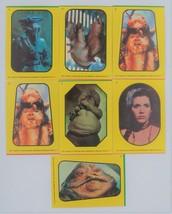 7 Return of the Jedi Stickers -Yellow Border #2,#2,#3,#4,#5,#7,#9 - $4.94