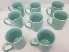 1 .ea Corning Ware 8 oz. Coffee Tea Cup Mug Teal Green Sea Foam Green vi... - $12.98
