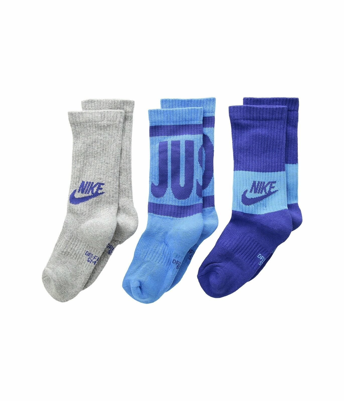 Nike Boys 3PK Performance Training Crew Socks Small 3Y-5Y SX6839-943 image 4