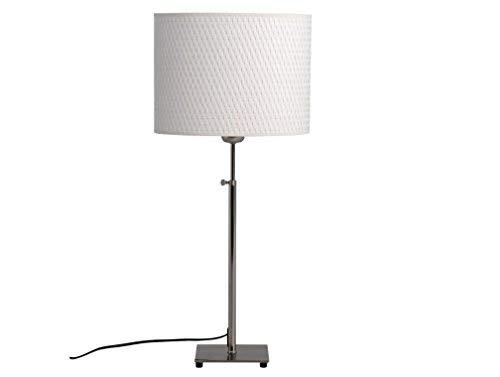 Ikea 500.291.62 Alang Nickel Plated Table Lamp, White