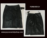 Forever 21 black leather skirt web collage thumb155 crop
