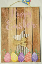 "Happy Easter Hanging Sign Decor 9.5"" X13.5"" w - $6.99"