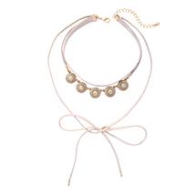 Necklace Imitation Gemstone Fashion Layered Choker Retro Gothic Women Ne... - $15.81