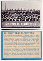 1961 Topps Montreal Alouettes Team Card #73 - $3.72