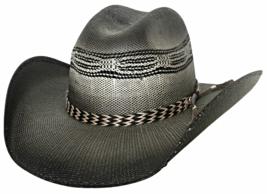 Bullhide Raising Sand Bangora Straw Cowboy Hat Horsehair Band Black Natu... - $64.00