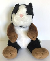 "Build A Bear Guinea Pig Hamster 12"" Plush Black Brown White Zoo Stuffed Animal - $37.95"