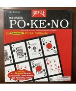 Jumbo Pokeno Game Large Print Cards 200 Chips 12 Boards Appears Unused  ... - $18.32