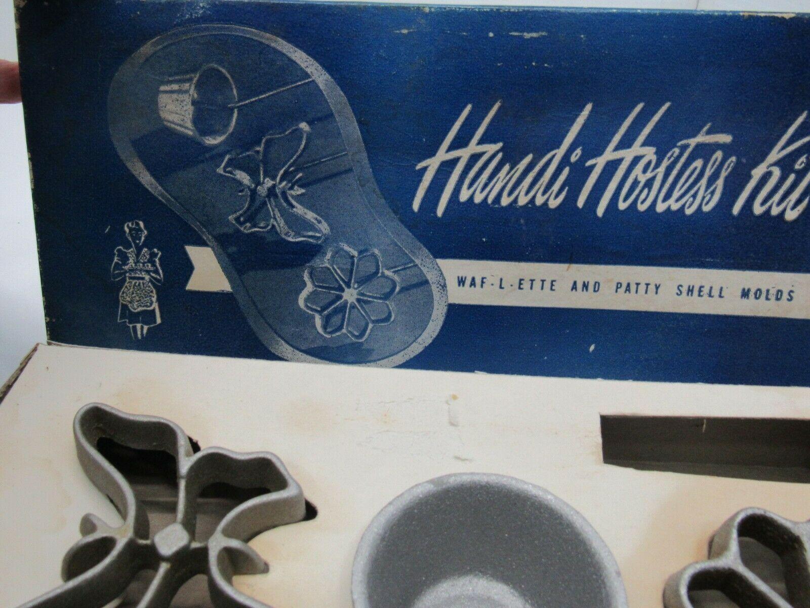 Handi Hostess Kit Waf-L-Ette Patty Shell Rosette Mold Waffle Org Box Bonley image 2