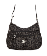 Giani Bernini Circle Signature Lurex Hobo Bag, Black/ Silver $100 - $22.22