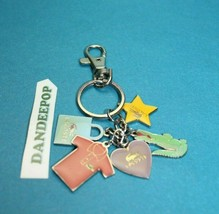 Lacoste 5 Charm Keychain Handbag Keys Accessory With Tags - $14.84
