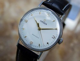 Citizen Phynox 1950s Manual Stainless Steel Japanese Made Mens Dress Watch Q54 - $587.47