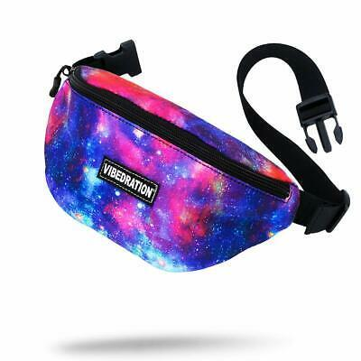 Vibedration Rave Fanny Pack | Waist Bag Perfect for Music Festivals, Hikes