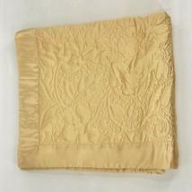 Fieldcrest Luxury 100% Silk Gold Euro Quilted Pillow Sham - $29.69