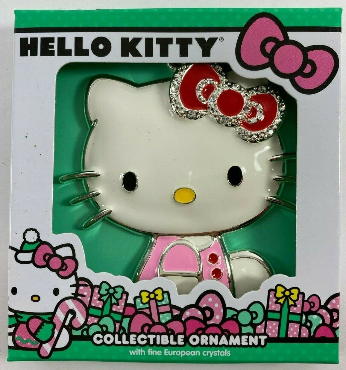Primary image for  New 2019 SANRIO Hello Kitty Christmas Tree Ornament with European Crystals