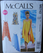 McCall's Sewing Pattern M6743 Misses Dresses and Belt Sz Xsm Sml Med UNCUT 2013 - $19.79