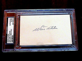 WALTER ALSTON 1955 WSC BROOKLYN DODGERS HOF MGR SIGNED AUTO INDEX CARD P... - $59.39