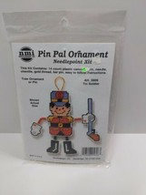 Vintage Needlepoint Christmas Kits Tin Soldier Tree Ornament or Pin 5606... - $11.75